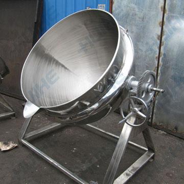 夹层锅以一定压力的蒸汽为热源也可选用电加热