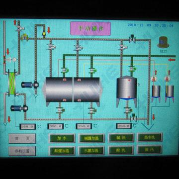 全自动/分体式CIP清洗系统操作流程界面图