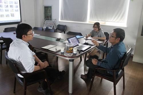惠合与苏州客户爆爆蛋生产线洽谈图1